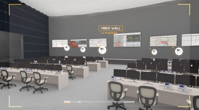 military video wall